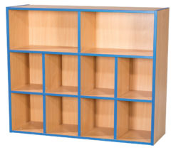 KubbyKurve-Three-Tier-2-+-4-+-4-School-Library-Shelf-Unit-1040mm-High-1000mm-Wide-Nobis-Education-Furniture