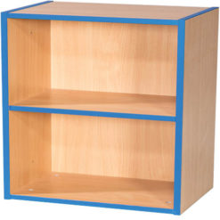 KubbyKurve-Two-Tier-1-+-1-School-Library-Shelf-Unit-700mm-High-Nobis-Education-Furniture