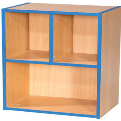 KubbyKurve-Two-Tier-2-+-1-School-Library-Shelf-Unit-700mm-High-Nobis-Education-Furniture