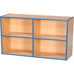 KubbyKurve-Two-Tier-2-+-2-School-Library-Shelf-Unit-700mm-High-1000mm-Wide-Nobis-Education-Furniture