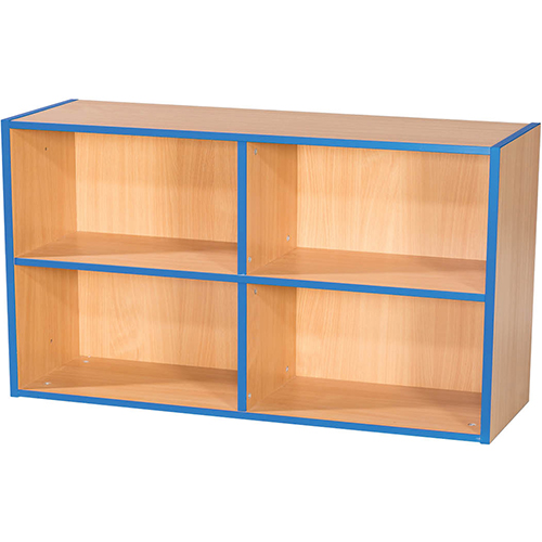 KubbyKurve-Two-Tier-2-+-2-School-Library-Shelf-Unit-700mm-High-1000mm-Wide-Nobis-Education-Furniture