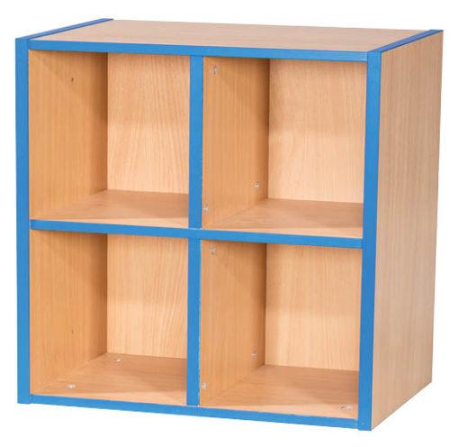 KubbyKurve-Two-Tier-2-+-2-School-Library-Shelf-Unit-700mm-High-Nobis-Education-Furniture