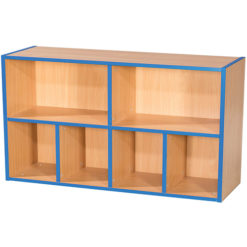 KubbyKurve-Two-Tier-2-+-4-School-Library-Shelf-Unit-700mm-High-1000mm-Wide-Nobis-Education-Furniture