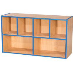 KubbyKurve-Two-Tier-4-+-2-School-Library-Shelf-Unit-700mm-High-1000mm-Wide-Nobis-Education-Furniture