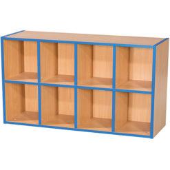 KubbyKurve-Two-Tier-4-+-4-School-Library-Shelf-Unit-700mm-High-1000mm-Wide-Nobis-Education-Furniture