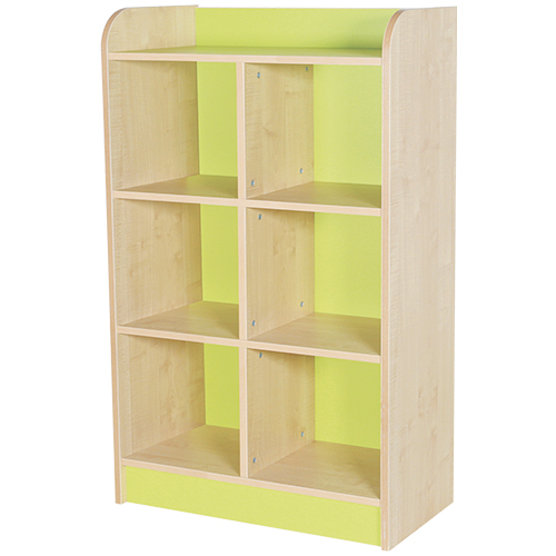classroom double storage cube green 1250mm