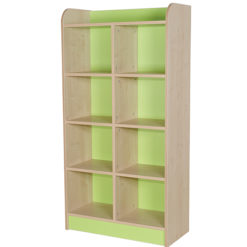 classroom double storage cube green 1500mm
