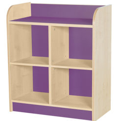 classroom double storage cube plum 750mm