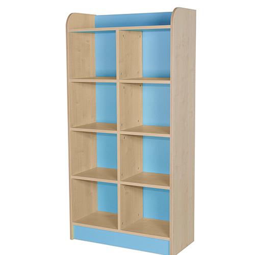 classroom double storage cube light blue1750mm
