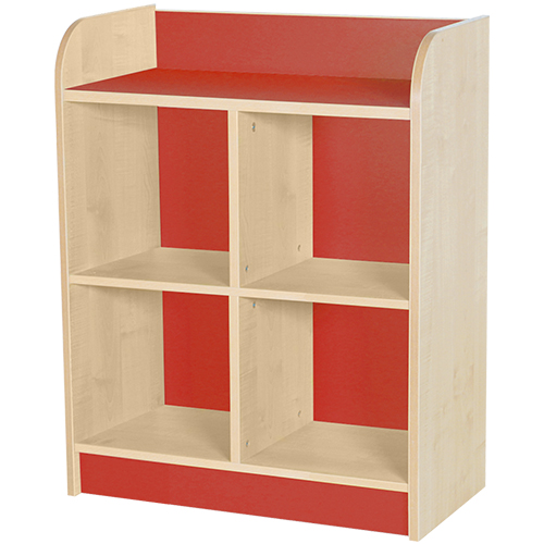 classroom double storage cube red 1000mm