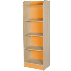 classroom single storage cube orange 1500mm