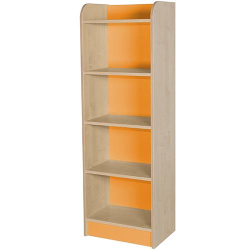 classroom single storage cube orange 1500mm