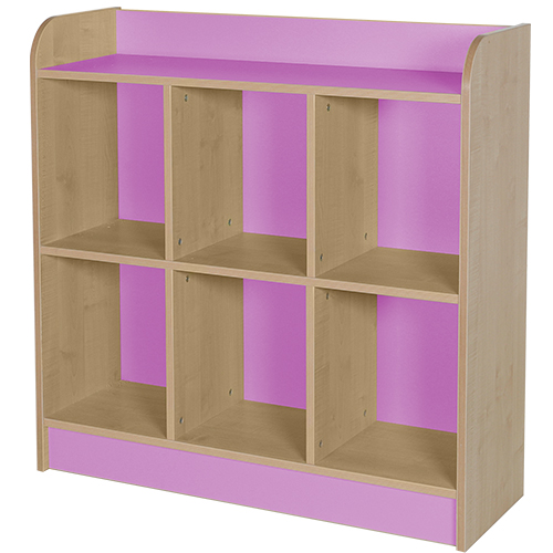 classroom triple storage cube lilac 1000mm