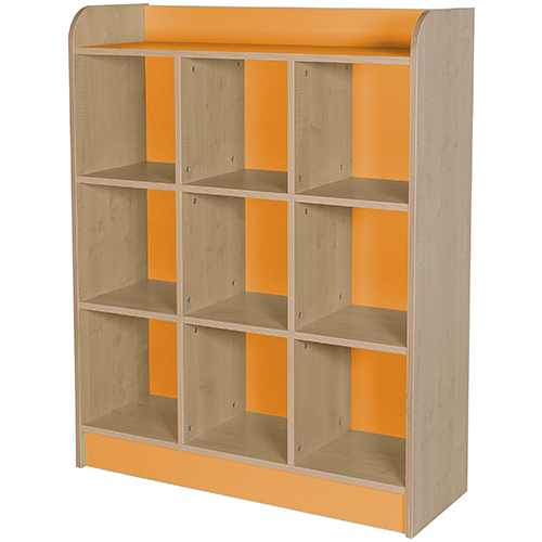 classroom triple storage cube orange 1250mm