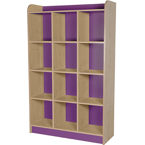 classroom triple storage cube purple 1750mm