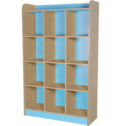classroom triple storage cube light blue 1500mm