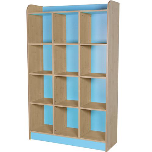 classroom triple storage cube light blue 1500mm