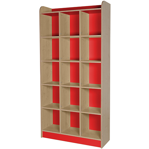classroom triple storage cube red 2000mm