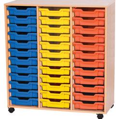 triple bay 36 tray classroom storage unit