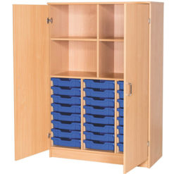 Tray Storage Cupboards and Open Cupboards