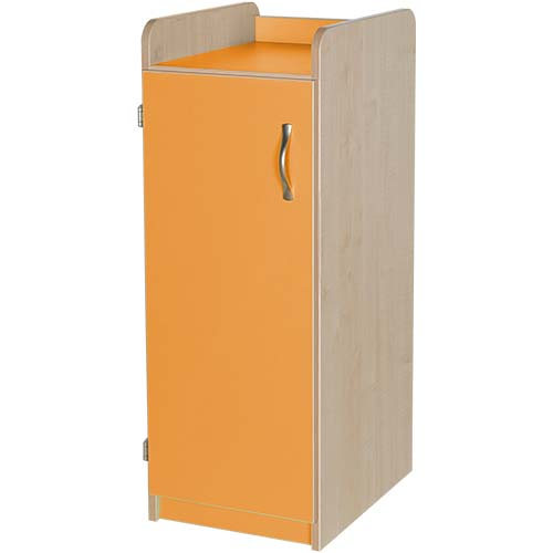 Orange Slimline Classroom Storage Cupboard 962mm High is ideal for any educational environment