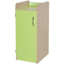 Green Slimline Classroom Storage Cupboard 877mm High is ideal for any educational environment