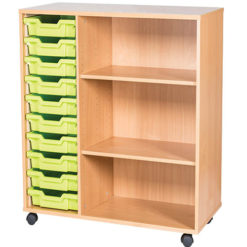 10-Tray-Mobile-Static-Unit-With-End-Shelf-Triple-Bay-Nobis-Education-Furniture