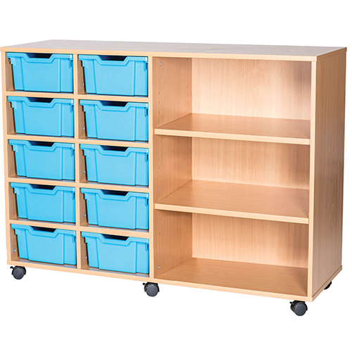 10-Tray-Quad-Bay-Deep-Tray-Classroom-Storage-Unit-End-Shelf-Nobis-Education-Furniture