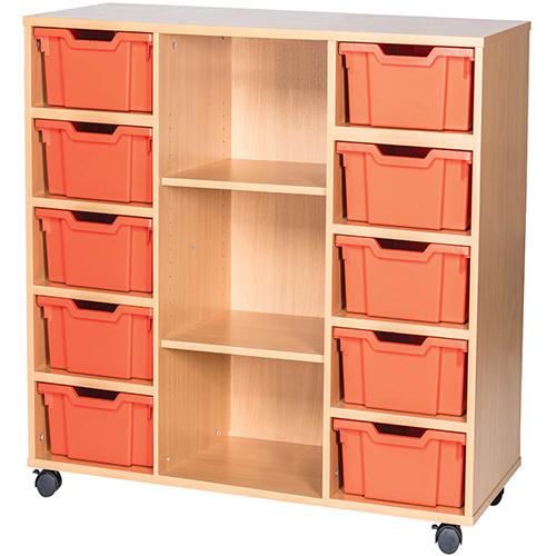 10-Tray-Triple-Bay-Deep-Tray-Classroom-Storage-Unit-Centre-Shelf-Nobis-Education-Furniture