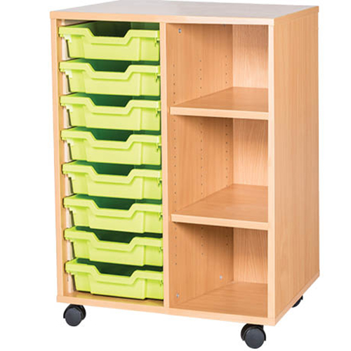 8-Tray-Mobile-Static-Unit-With-Shelf-Double-Bay-Nobis-Education-Furniture