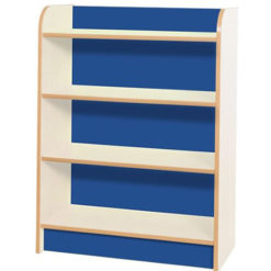 KubbyClass-Polar-School-Library-750mm-Wide-Single-Sided-Bookcase- 1000mm-High-Blue-Nobis-Education-Furniture