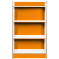 KubbyClass-Polar-School-Library-750mm-Wide-Single-Sided-Bookcase- 1250mm-High-Orange-Nobis-Education-Furniture