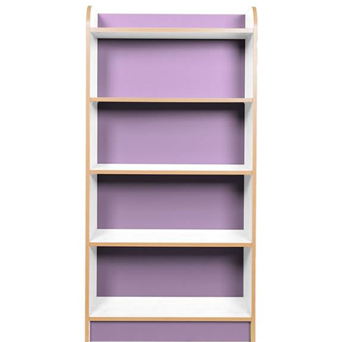 KubbyClass-Polar-School-Library-750mm-Wide-Single-Sided-Bookcase- 1500mm-High-Lilac-Nobis-Education-Furniture