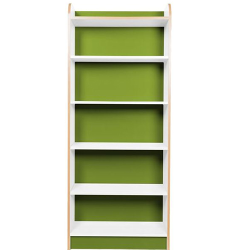 KubbyClass-Polar-School-Library-750mm-Wide-Single-Sided-Bookcase- 1750mm-High-Lime-Green-Nobis-Education-Furniture