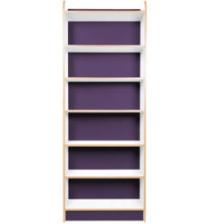 KubbyClass-Polar-School-Library-750mm-Wide-Single-Sided-Bookcase- 2000mm-High-Purple-Nobis-Education-Furniture