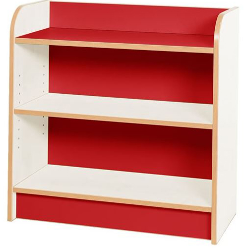 KubbyClass-Polar-School-Library-750mm-Wide-Single-Sided-Bookcase- 750mm-High-Red-Nobis-Education-Furniture