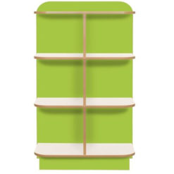 KubbyClass-Polar-School-Library-D-End-Cap-Bookcase-1000mm-High-Lime-Green-Nobis-Education-Furniture