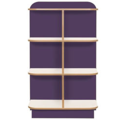 KubbyClass-Polar-School-Library-D-End-Cap-Bookcase-1250mm-High-Purple-Nobis-Education-Furniture