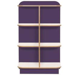 KubbyClass-Polar-School-Library-D-End-Cap-Bookcase-1250mm-High-Purple-Nobis-Education-Furniture