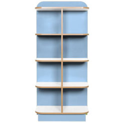 KubbyClass-Polar-School-Library-D-End-Cap-Bookcase-1500mm-High-Light-Blue-Nobis-Education-Furniture