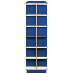 KubbyClass-Polar-School-Library-D-End-Cap-Bookcase-2000mm-High-Blue-Nobis-Education-Furniture
