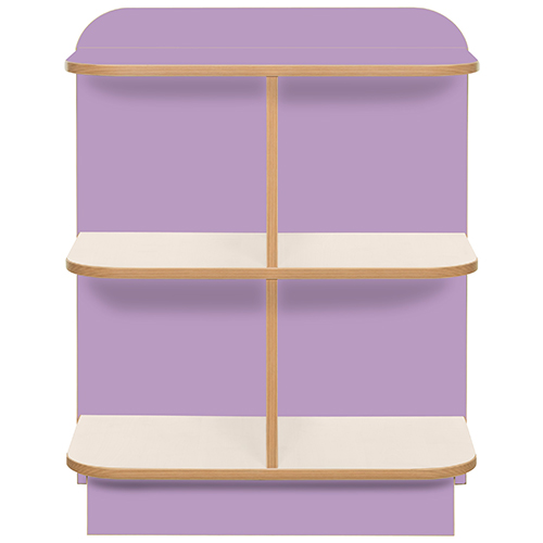 KubbyClass-Polar-School-Library-D-End-Cap-Bookcase-750mm-High-Lilac-Nobis-Education-Furniture