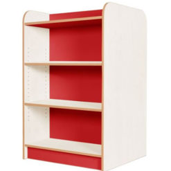KubbyClass-Polar-School-Library-Double-Sided-Bookcase-1000mm-High-Red-Nobis-Education-Furniture