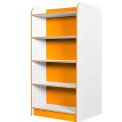 KubbyClass-Polar-School-Library-Double-Sided-Bookcase-1500mm-High-Orange-Nobis-Education-Furniture