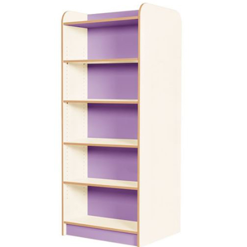 KubbyClass-Polar-School-Library-Double-Sided-Bookcase-1750mm-High-Lilac-Nobis-Education-Furniture
