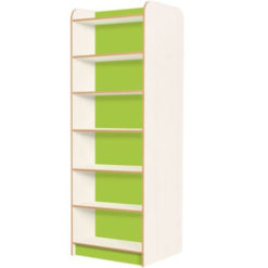 KubbyClass-Polar-School-Library-Double-Sided-Bookcase-2000mm-High-Lime-Green-Nobis-Education-Furniture