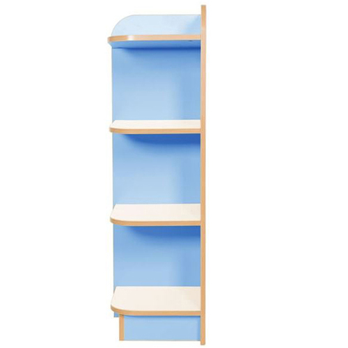 KubbyClass-Polar-School-Library-Left-Hand-End-Bookcase-1000mm -High-Light-Blue-Nobis-Education-Furniture