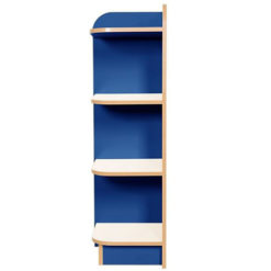 KubbyClass-Polar-School-Library-Left-Hand-End-Bookcase-1500mm -High-Blue-Nobis-Education-Furniture