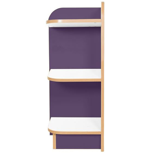 KubbyClass-Polar-School-Library-Left-Hand-End-Bookcase-750mm -High-Purple-Nobis-Education-Furniture