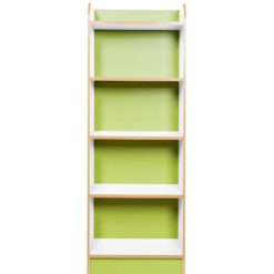 KubbyClass-Polar-School-Library-Slimline-Single-Sided-Bookcase-Lime-Green-1500mm-High-Nobis-Education-Furniture